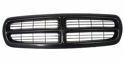 New CH1200200 Black Shell Black Insert Grille Assembly For Dodge Dakota 97-04