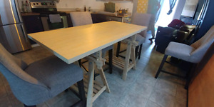 Wood dining table or desk