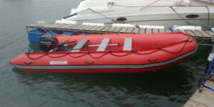 Saturn 15 Ft Inflatable Boat with 20 HP Mercury