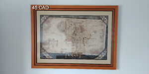 Wooden frame (come with Middle Earth Hobbit map)