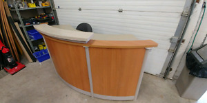 Reception desk for office or business