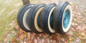 Original white wall tires 1955