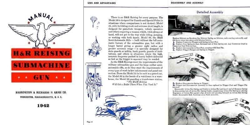 Harrington & Richardson Arms 1942 Reising Submachine Manual