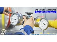 GAS SAFETY CERTIFICATE/LANDLORDS SAFETY CERTIFICATE ONLY!!! £38 incl Taxes