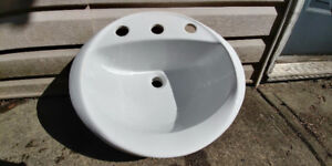 Bathroom Sink White 3 hole