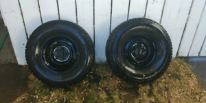 Pair (2) 235/75/15  studded Winter Tires