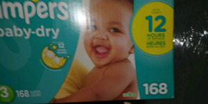 Couches Pampers Baby-Dry # 2 et 3
