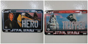Star Wars Miniature Magnetic License Plates