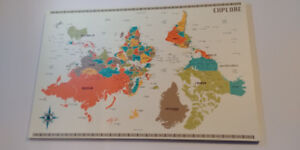 Upside Down New World Map - Canvas Print