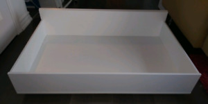 Ikea malm underbed storage drawers - white - queen