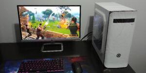 Ordinateur Gamer Noir Blanc : i3 + MSi GTX 660 TI Jeu Gaming