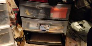 Sterilite 3 Wide Drawer Storage Cart