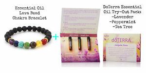 Essential Oil Diffuser Bracelet and DoTerra Sample Pack Set