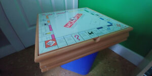 Monopoly/Clue Multi-Game Wood Box Cabinet Edition - Chess Checke