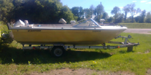 18' boat and trailer