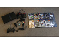 Sony PS2 with 10 Games Etc Retro Console