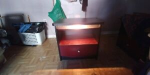 Two night side tables with lamps!