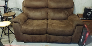 Leons Saddle Brown loveseat Recliner and more