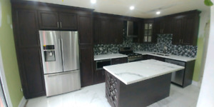 Kitchen Cabinets,Quartz,Tiles,Refacing-647-980-2247