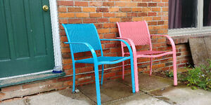 2 Colourful Lawn/Patio Chairs
