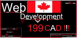 Web Development as low as 199 CAD!!