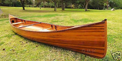 Cedar Strip Canoe Wooden Boat 16' No Ribs Woodenboat USA For Sale New