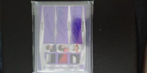 In the game used triple patch auto Veleno Hischier Patrick 5/6