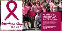 Volunteer for the Mother's Day Walk in London on May 12th
