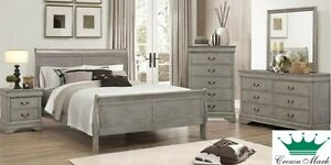 Louis Phillippe Complete Queen Bed