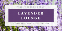 Lavender Lounge Free Facebook Group - Starts Sept 15th