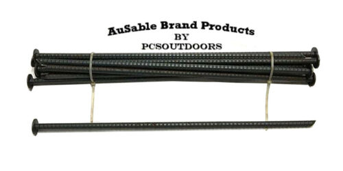 """AuSable Brand 18"""" x 3/8"""" Rebar Trap Anchor Stakes - Landscaping & Camping (12PK)"""