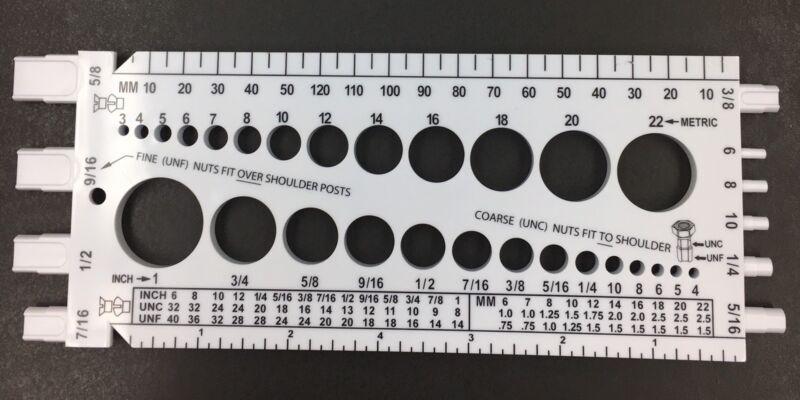 Bolt Nut Screw Thread Fastener Gauge Checker Measure A Screw what size drill bit