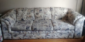 $50 Couch and love seat (pull out sofa bed)