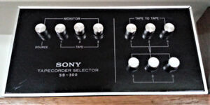 Sony SB-300 tape recorder selector for 3 tape recorders