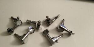 Guitar Tuners 6 in line nickel