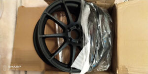 "BNIB RTX Munich 18"" Matte Black Alloy Wheels Set of 4 DEAL"