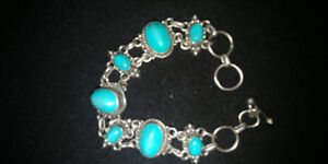 3 STERLING SILVER TURQUOISE BRACELETS TO CHOOSE FROM HEAVY