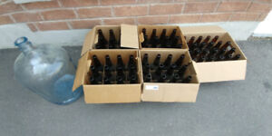 Beer bottles and fermenters - homebrewing