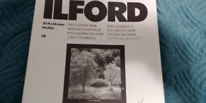 2 BOXES ILFORD 11 X 14 PHOTOGRAPHIC PAPER MGF.1K - MULTIGRADE IV