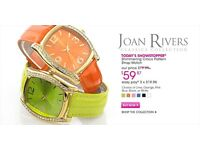 Joan rivers classic collection orange watch