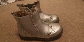 Start Rite silver boots