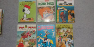 FRENCH BOOKS - HUGE LOT VINTAGE KIDS/CHILDRENS FRENCH HARDCOVERS