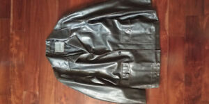 Men's Size L Brown Faux Leather Jacket