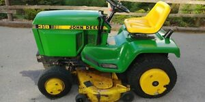 JOHN DEERE 318 LAWN TRACTOR WITH ALL ACCESSORIES