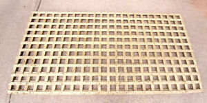 4 Feet by 8 Feet, Sun trellis Privacy Plus Brown Lattice Panel