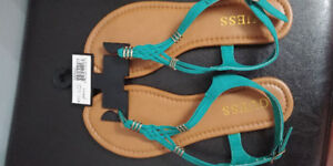 Teal guess brand sandles