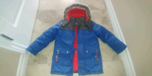 Boys size  7 winter parka and snow pants