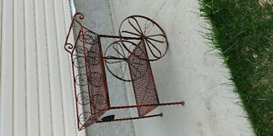 WROT IRON BRUSHED BRONZE CARRIAGE