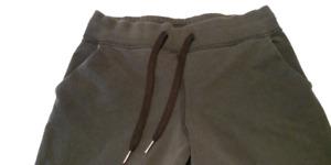 """Lululemon women's stone-washed black loop back jogger 28"""" 8"""