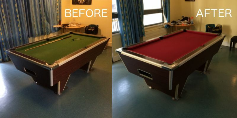 Pool Table Recovery Anywhere In London Recovering Recloth - Pool table refelting near me